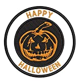 Jack-o'-Lantern Pumpkin Halloween Theme 3.5' Embroidered Patch DIY Iron-on or Sew-on Decorative Applique Costume Cap Hat Gear Clothing Classic Scary Movie Series