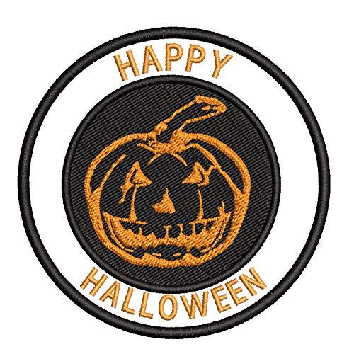 Jack-o'-Lantern Pumpkin Halloween Theme 3.5' Embroidered Patch DIY Iron-on or Sew-on Decorative...