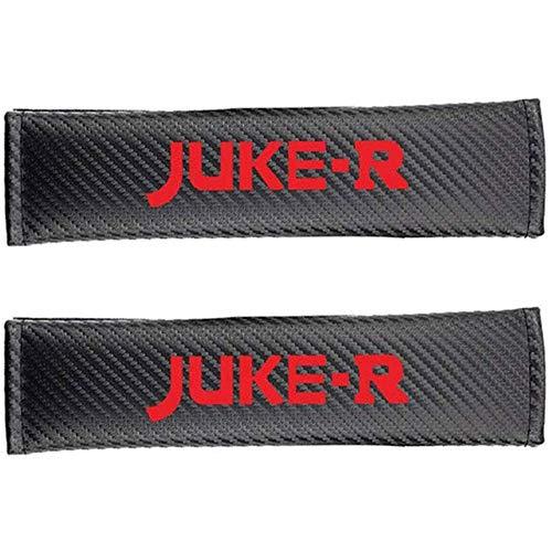 2 Piezas Fundas para Cinturones De Seguridad Hombreras para Juke-R, Cuero Negro Almohadillas para CinturóN De Seguridad para AutomóVil Almohadilla para Cubrir El CinturóN De Seguridad