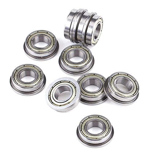 10PCS F688ZZ Double Shielded Flange Ball Bearings, Metal Steel,Roller Rolling Miniature Ball Bearings for 3D Printer,Motor 8165mm