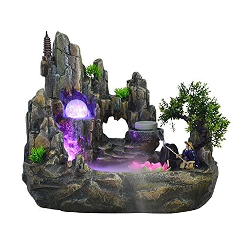 Fuente Escritorio Tabletop Fountain Cascada Cascada y agua Fountain Decoración Sala de estar Humidificador interior Paisaje Paisaje Desktop Regalo Fuente Meditación Cascada Escritorio ( Size : L )