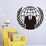hetingyue Anonymous Hacker Internet Wandaufkleber