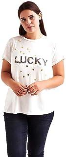 Lucky Brand womens METALLIC LUCKY TEE T-Shirt