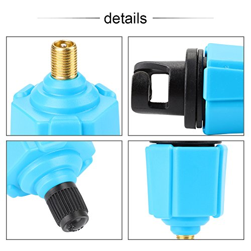 Dioche Inflator Valve Adapter, Tragbare Kunststoff + Legierung Inflator Ventil Adapter Zubehör für Kanu Kajak Boot Blau - 2