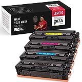 4 LEMERO Toner [sin Chip] Compatible para HP 207A W2210A - W2213A para HP Color Laserjet Pro M255dw MFP M282nw M283cdw M283fdw