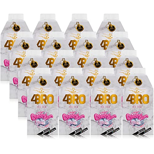 16 Packungen 4 Bro Ice Tea Bubble Gum a 0,5l Eistee Kaugummi (16 x 0,5l) 4Bro