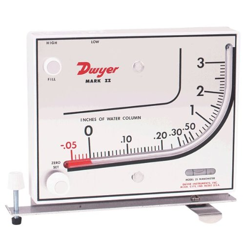 Dwyer Series Mark II 25 Molded Plastic Manometer
