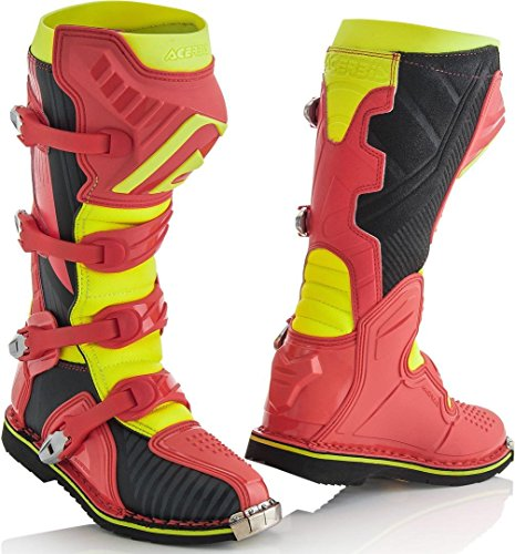 Acerbis 0021596.346.040 X-Pro V. T.4 Boot, Red/Yellow