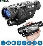 ESSLNB Monocular Vision Nocturna 5X40 Vision Nocturna Caza Infrarrojo IR Camara Grabación Imagen y Vídeo Reproducción Función 8GB TF Tarjeta para Caza