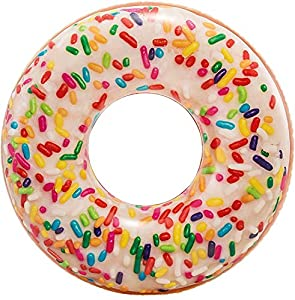 Intex 56263NP - Rueda hinchable Donut de colores 99cm x 25cm diámetro