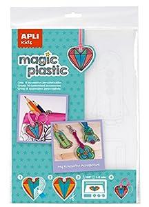 APLI Kids - Bolsa plástico mágico transparente, 4 hojas