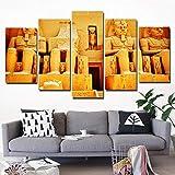 SUKOKOLA Lienzo HD póster Pintura Nuevo Arte Imagen Modular impresión 5 unids/Set Pared del Antiguo Egipto para Sala de Estar decoración nórdica