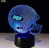 Lámpara De Rugby Decoración Del Hogar Siete Colores 3D Atmósfera Lámpara Táctil Inducción Dormitorio Noche Luz
