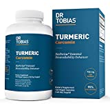 Dr Tobias Turmeric Curcumin - with Bioperine (Black Pepper) - 1500mg per 2 Capsules - Color of Capsules May Vary (120 Capsules)