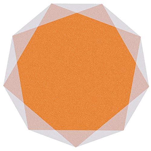 SYEA Protector de Suelo Protector De Piso para Escritorios Oficina Y Hogar Tapete Antideslizante Silencioso Resistente Al Desgaste Fácil De Limpiar(Size:160cm(63in),Color:Naranja)