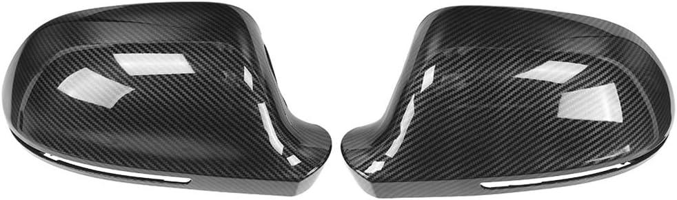 【2 Pcs】Carbon Fiber Max 79% Omaha Mall OFF Rearview Mir Car Mirror Shell