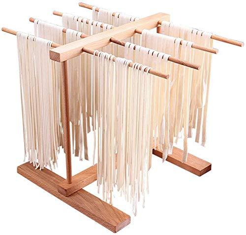 libelyef Pasta Wäscheständer, Nudeltrockner Hölzerne Zusammenklappbarer Spaghetti-Wäscheständer Plastiknudeln, Die Trocknendes Halter-Gestell Hängen Für DIY Making Pasta Maker Nudeln