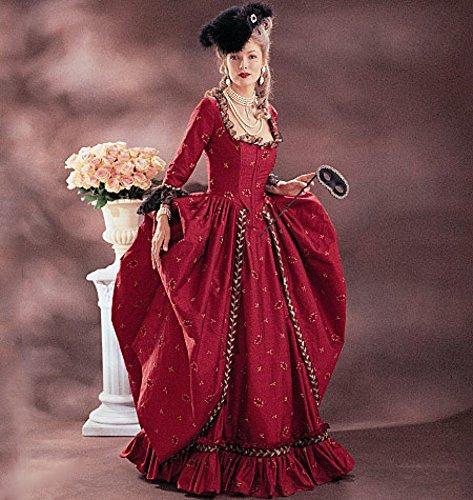 McCall 's Cosplay Damen Schnittmuster 2041historischen Kleid & Plissee Petticoat