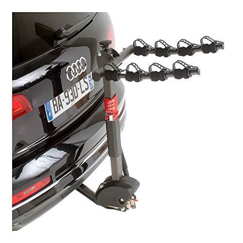 Selection P2R (Cycle) fietsendrager voor trekhaak, voor 4 fietsen, kantelbaar, met diefstalbeveiliging