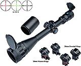 Eagle Eye Rifle Scope 6-24x50AO R/G Turrets W/Lock/Reset Mil Dot Scope W/ 2