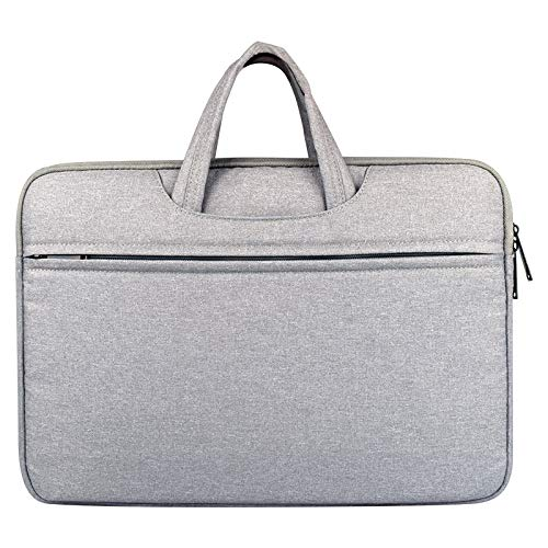 Laptop Case, Breathable Wear-resistant Shoulder Handheld Zipper Laptop Bag, For 14 inch and Below, Laptop Sleeve Case (Color : Grey)
