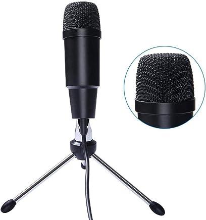 DDSHYNH Microfono a condensatore per Computer per Giochi Plug And Play Microfono USB Windows/Mac Microfono Nero Registrazione Musicale,Black - Trova i prezzi più bassi