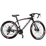 cobcob Adult Road Bike, 26 Inches Adult Outdoor Bikes Heavy-Duty Road Bicycle...
