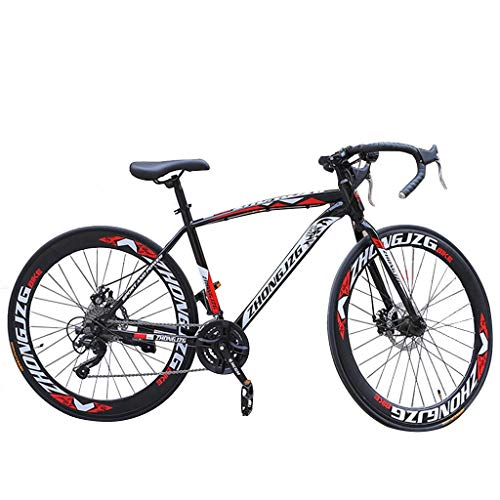Mountain Bike, Adult Bike, Aluminum Full Suspension Road Bike, 21 Speed Disc Brake, 700C, Double Disc Brake, Mountain Bike, All Terrain Bike, Antiskid Bike (Black)