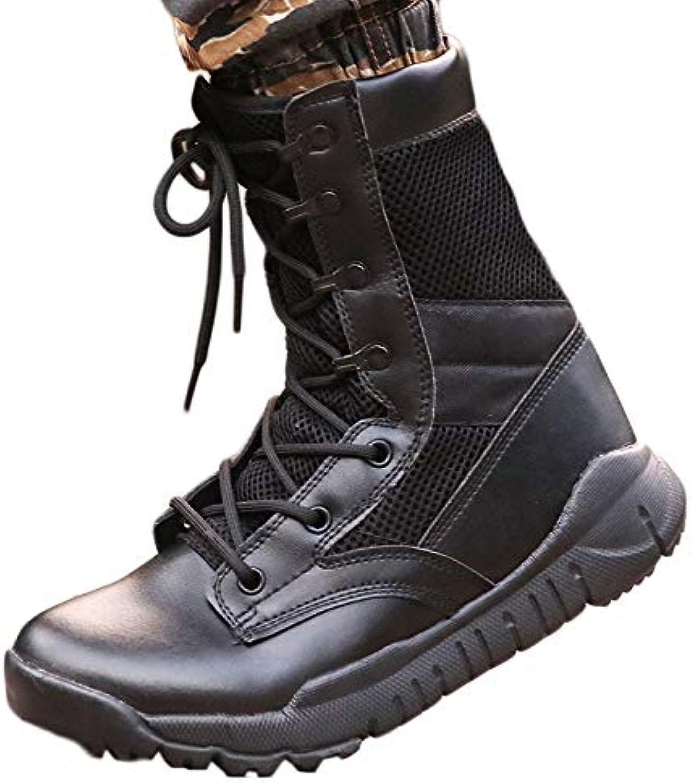 Herren Desert Armed Combat Combat Combat Stiefel Patrol Army Military Leder Stiefel Lace-Up Praktische Schuhe Dschungel Taktische Schuhe,schwarzmesh,44 8e8