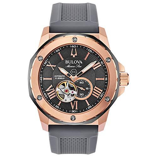 Bulova Reloj Analógico para Hombre de Automático con Correa en Goma 98A228