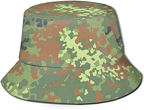 Angelhüte Sonnenhüte an Bundeswehr Flecktarn Camo Fishing Sun Hats Breathable Fisherman Protection Hats for Fishing Beach Hiking Camping Gardening Boating