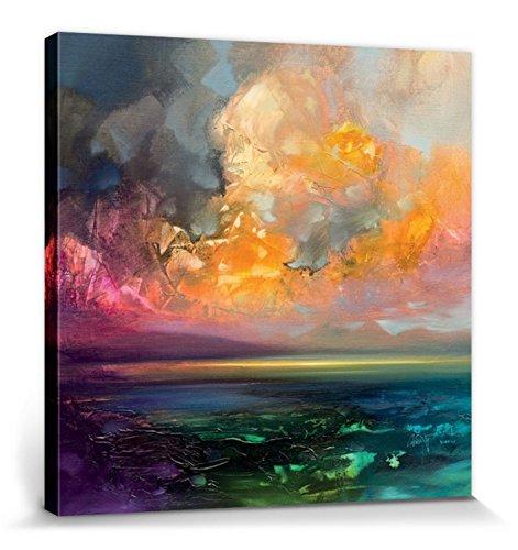 1art1 Scott Naismith - Isle of Jura Emerges Bilder Leinwand-Bild Auf Keilrahmen | XXL-Wandbild Poster Kunstdruck Als Leinwandbild 40 x 40 cm