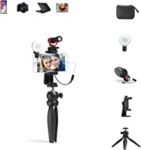 Alilong Smartphone Video Microphone Kit, Shotgun Mic Rig with Shock Mount, Tripod Compatible with...