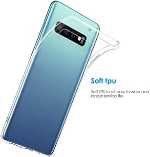 Samsung S10 Cover Guesthome, Slim Thin Non-Slip Silicone TPU Clear Case Cover Compatible Samsung S10/S10 Plus,Keep The Original Look of Your Phone