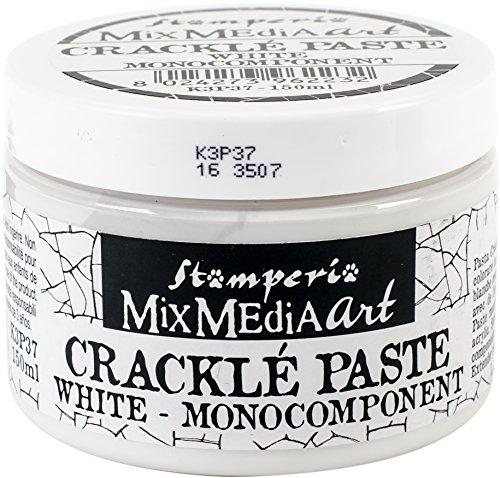 Stamperia K3P37 Crackle 150 ml, Paste auf Wasserbasis, Weiß, 7 x 7 x 5