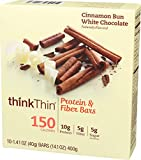Think Products Lean Protein Fiber Thin Bar, Cinnamon Chocolate, 1.41 Ounce by Think Products