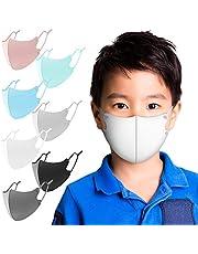 マスク 夏用 冷感マスク 6枚セット 紐の長さ調整可能 洗えるマスク UVカット 布マスク 男女兼用 Naturali (子供用(ライトブルー))