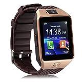 Winnes Smartwatch, Smartwatch für Damen und Herren und Kinder, mit Kamera für Android iOS (Gold)