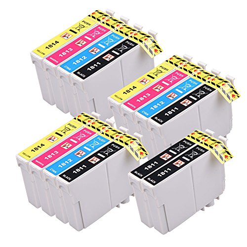Perfect Print Tintenpatrone für Epson XP102,XP202,XP212,XP215,XP205,XP225,XP30,XP302,XP305,XP312,XP315,XP322,XP325,XP402,XP412,XP415,XP422,XP405, XP425,XP405,14Stück