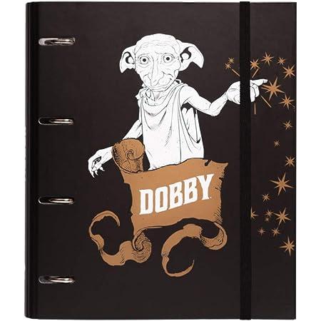 Erik - Classeur A4 4 Anneaux - Harry Potter Dobby   Classeur Rigide   Fournitures Scolaires, Fournitures de Bureau