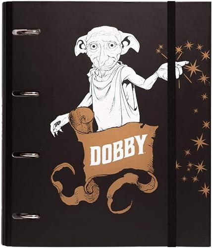 Erik - Classeur A4 4 Anneaux - Harry Potter Dobby | Classeur Rigide | Fournitures Scolaires, Fournitures de Bureau
