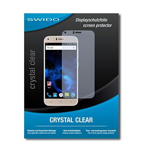 SWIDO Bildschirmschutz für UMIDIGI Diamond X [4 Stück] Kristall-Klar, Hoher Festigkeitgrad, Schutz vor Öl, Staub & Kratzer/Schutzfolie, Bildschirmschutzfolie, Panzerglas Folie