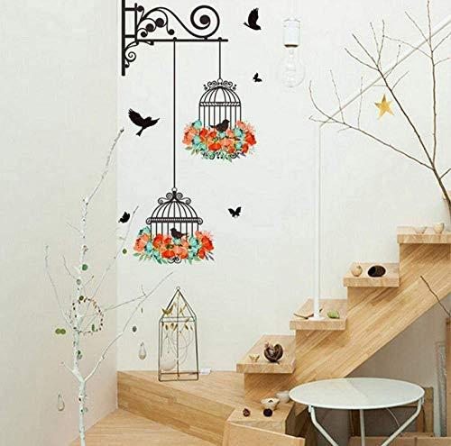 Vintage Home Decoratie Kinderen Vogelkooi Decoratie Schilderij Slaapkamer Woonkamer Tv Muur Art muurschildering DIY Sticker Muursticker Sticker Sticker Decal