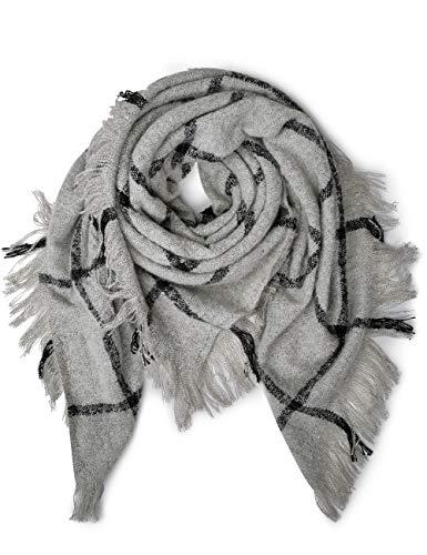 Cecil Damen 570767 Schal, Mehrfarbig (Black 30001), One Size (Herstellergröße: A)