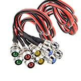 Amotor 10 pcs/Lot LED Indicator Light Lamp Pilot Dash Directional Car Truck Boat Blue red Green Yellow White (Tricolor)