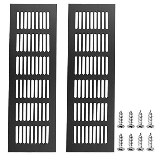 WakiHong 2 piezas de aleación de aluminio gabinete ventilación de aire, cubierta de ventilación de metal, para armarios, armarios de zapatos y prevención de mosquitos