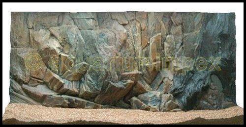 Aquarium 3 D Rückwand S. Felsen Wurzel 80x40 cm 80 3D