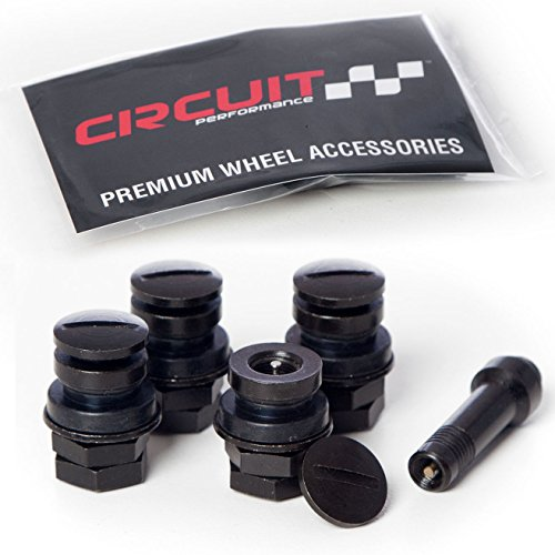 Circuit Performance Black Bolt-in Flush Mount Valve Stems (Set of 4)