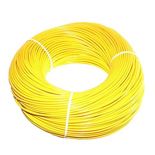 (0,12€/m) 100m Uni Fahrzeugleitung 1-polig 0,75mm² Kfz Elektrik Leitung Elektro Kabel Litze Kupferkabel isoliert NEU Old-Harvest (Gelb)