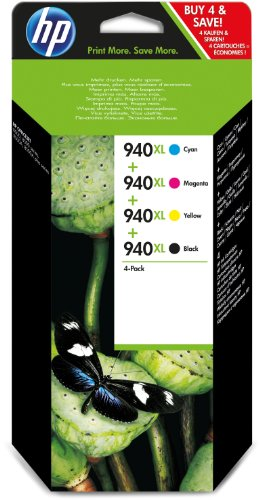 Hewlett Packard C2N93AE Tintenpatrone 940XL, 4-er Pack